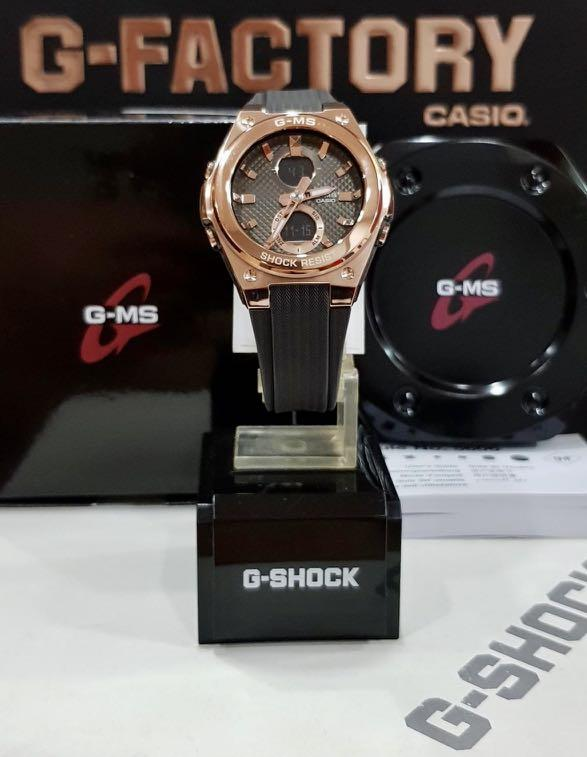 NEW🌟LUXURY BABYG UNISEX DIVER SPORTS WATCH : 100% ORIGINAL AUTHENTIC CASIO BABY-G-SHOCK ( GSHOCK ) : MSG-C100G-1ADR ( G-MS ) (BLACK+ROSE-GOLD)