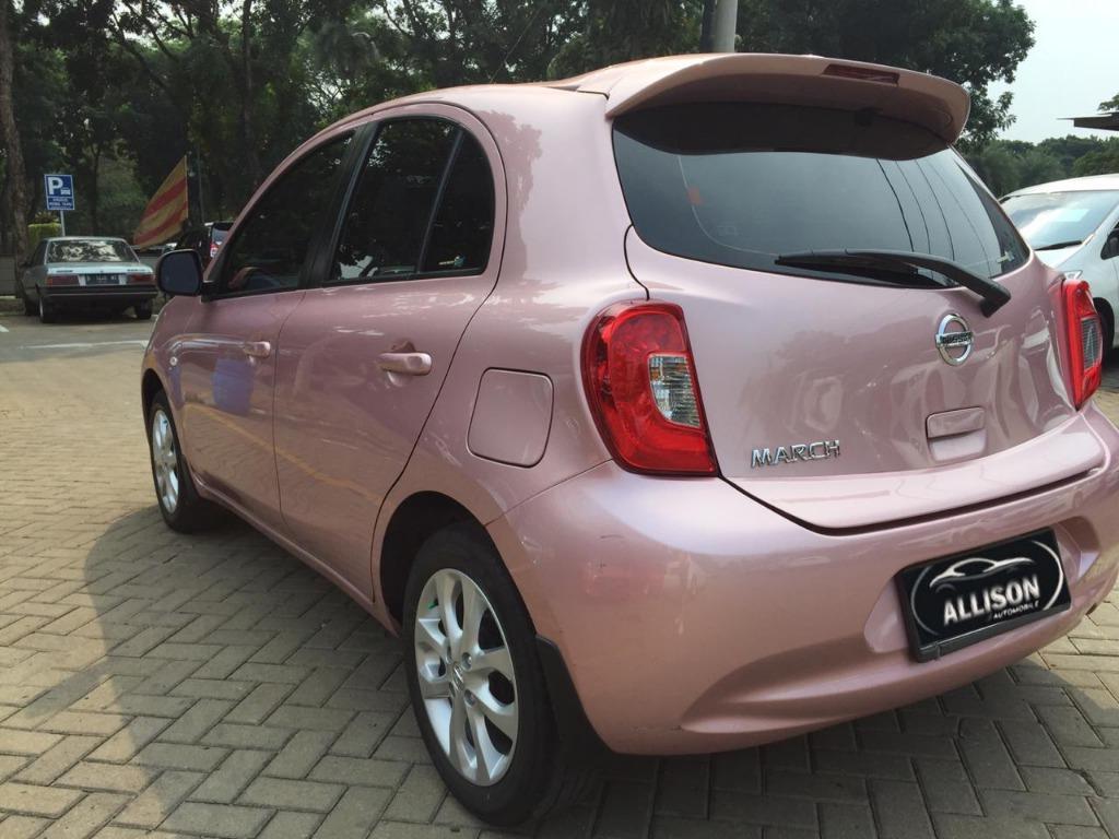 Nissan March 1.2L XS AT 2016 PINK Dp 29,9 Jt No Pol Ganjil