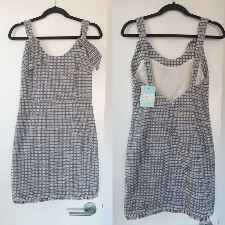 """NWT We Are Kindred Chambray """"Liv Pinafore"""" Dress Size 10 (fits 8-10)"""