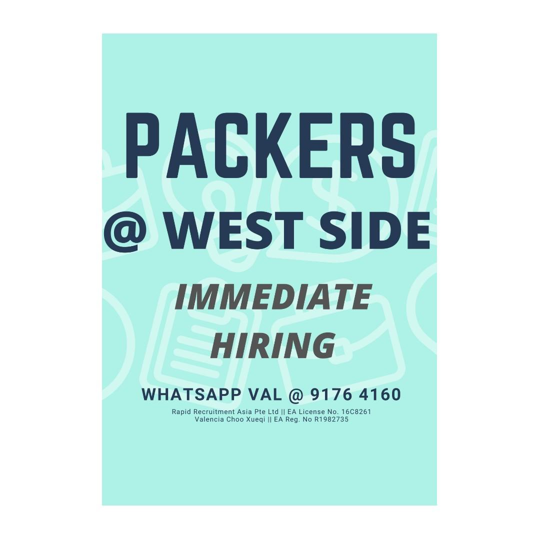 Packers x 10 @ West (HIGH OT, Work With Friends!)