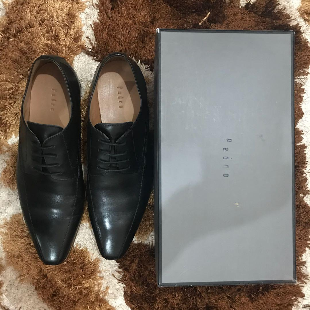 Pedro Burnished Leather Derby Shoes Size 45