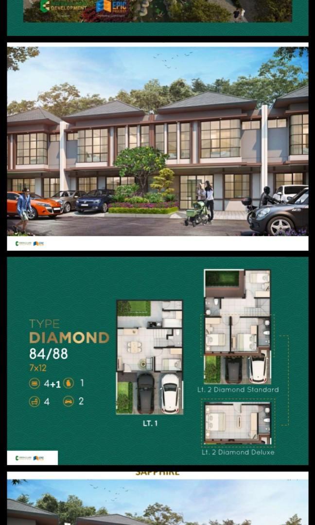 PROMO GRATIS BPHTB, AJB DAN AC SETIAP KAMAR MULAI 800JT-AN @ Rumah 2 Lantai Di Emerald City Cibinong, Bogor