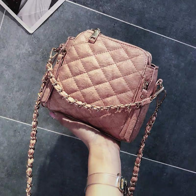 Quilted Zipper Two Ways Bag