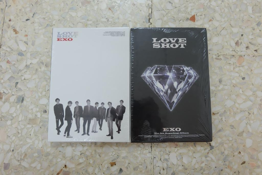 【Ready Stock】EXO 5th Repackage Album LOVE SHOT Selaed Album with poster in tube