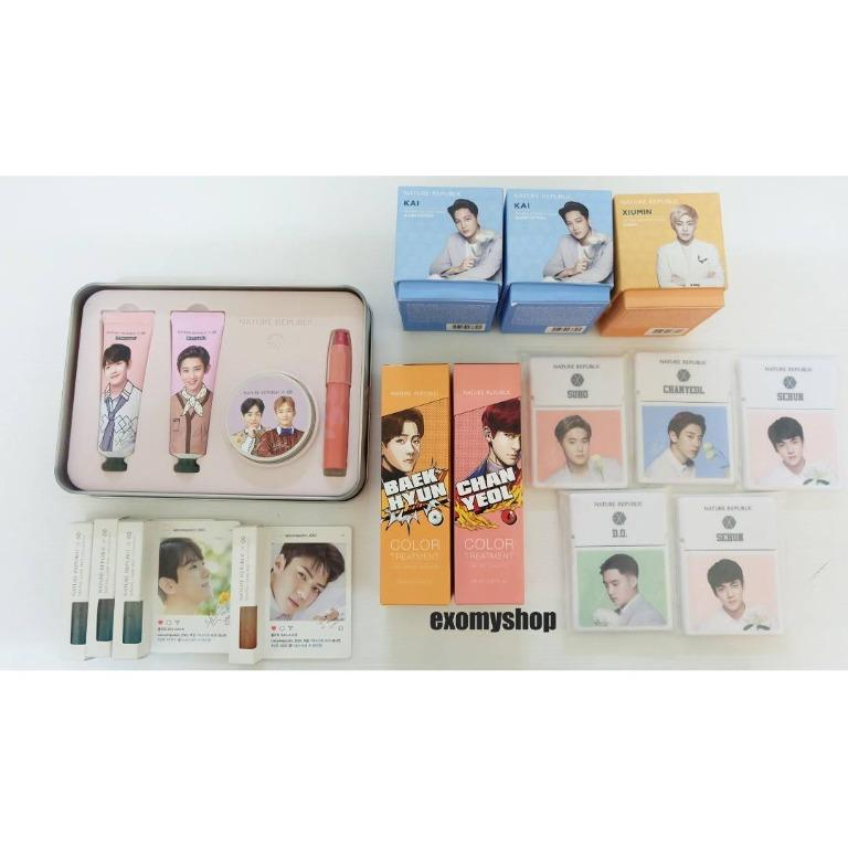 【Ready Stock】EXO NATURE REPUBLIC OFFICIAL GOODS MASK /COLOR HAIR TREATMENT /  Sented Candle