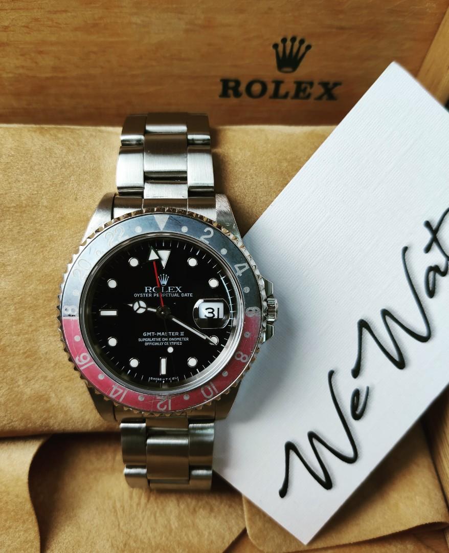 Rolex Watch 勞力士手錶 16710 GMT Coke 「中古」「停產款式」「粉灰片」
