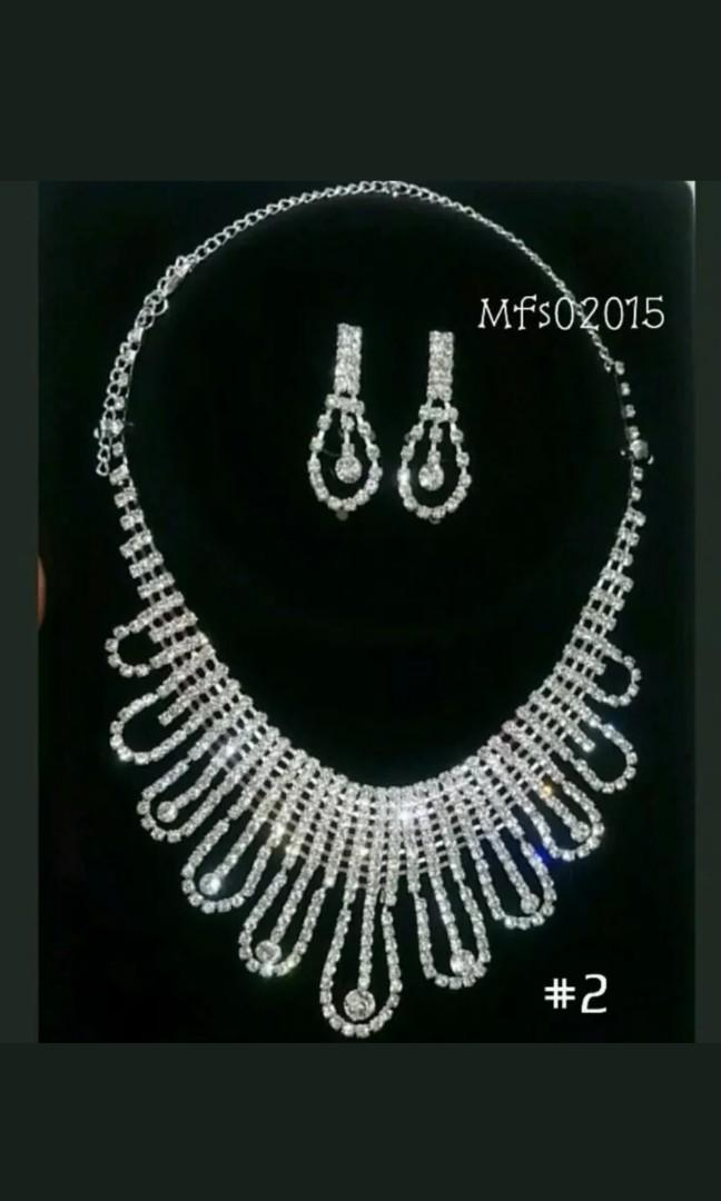 Sale! Rhinestone Cocktail Party Formal Necklace & Earrings Set