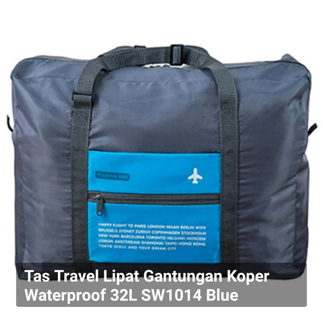 Tas Travel Lipat Gantungan Koper Waterproof 32L SW1014 Blue