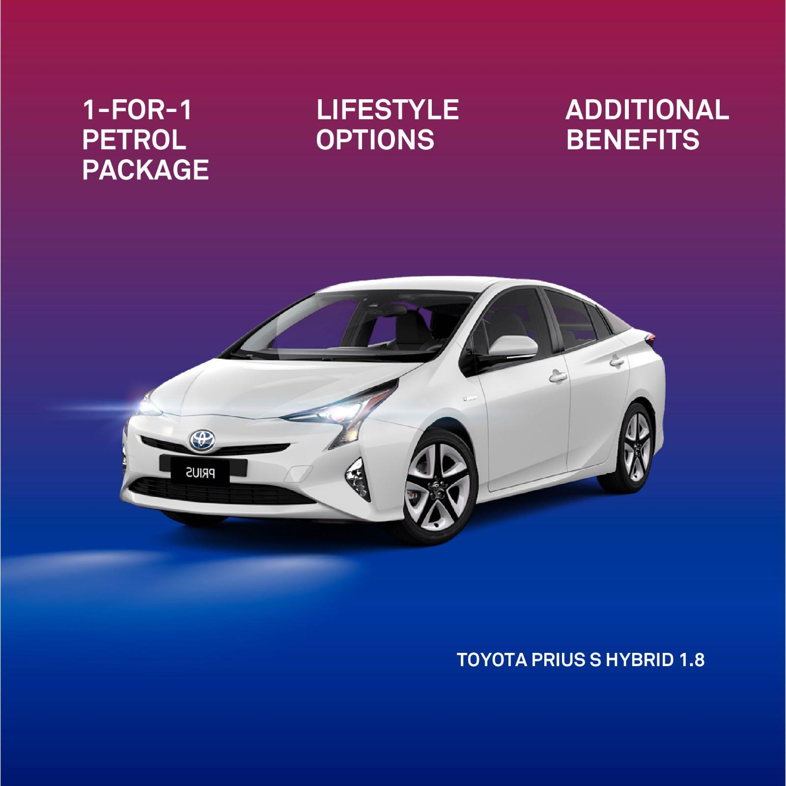 Toyota Prius S Hybrid 1.8A for Grab and Gojek