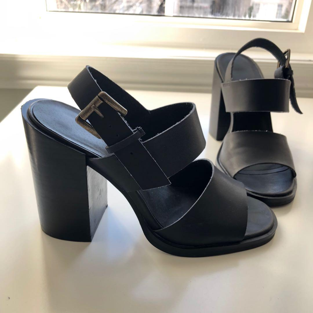 Urban Outfitters Black Strappy Heel Sandals