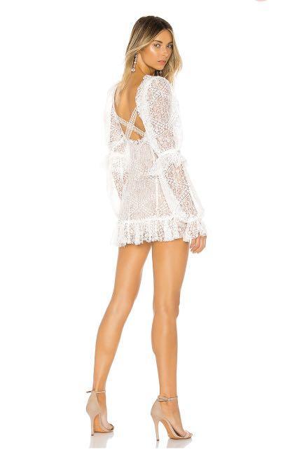 White Dress 'For Love & Lemons' Size Small RRP AU$499