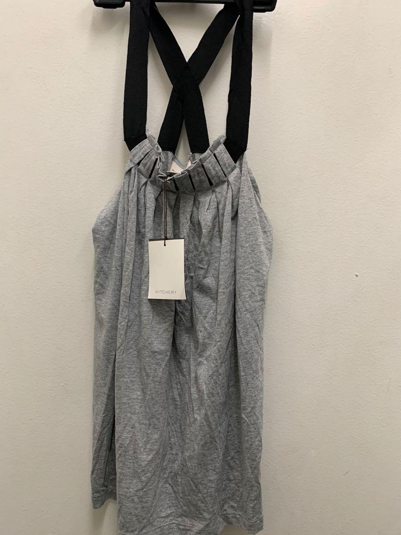 WITCHERY Never worn w/ Tag Racerback Grey long top XS
