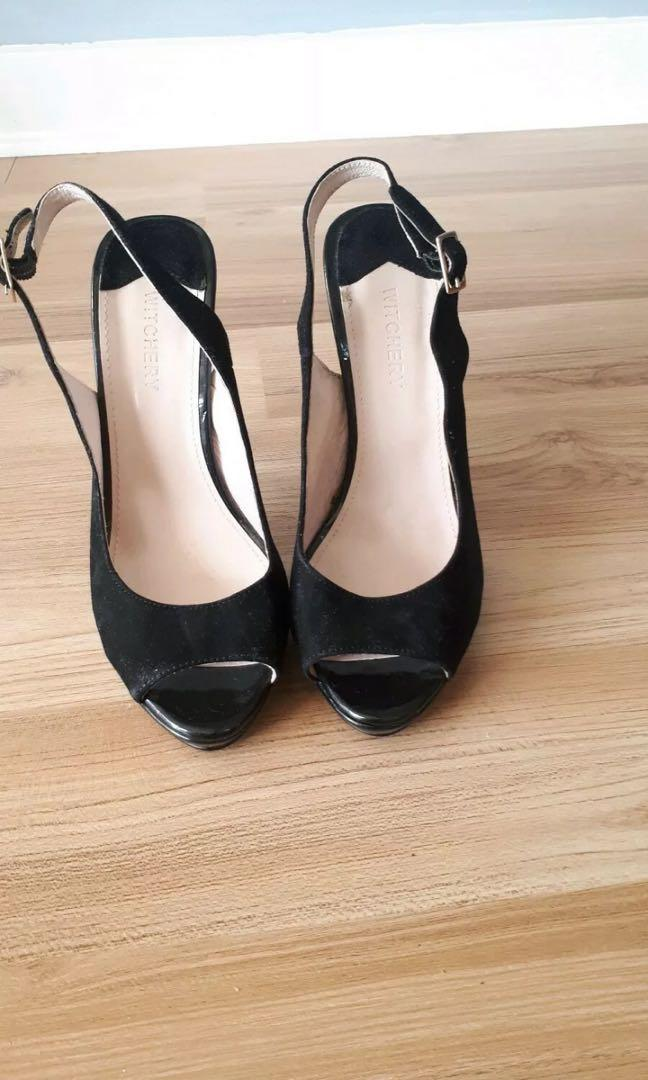 WITCHERY Never Worn with tag Sling back peep-toe heels size 40