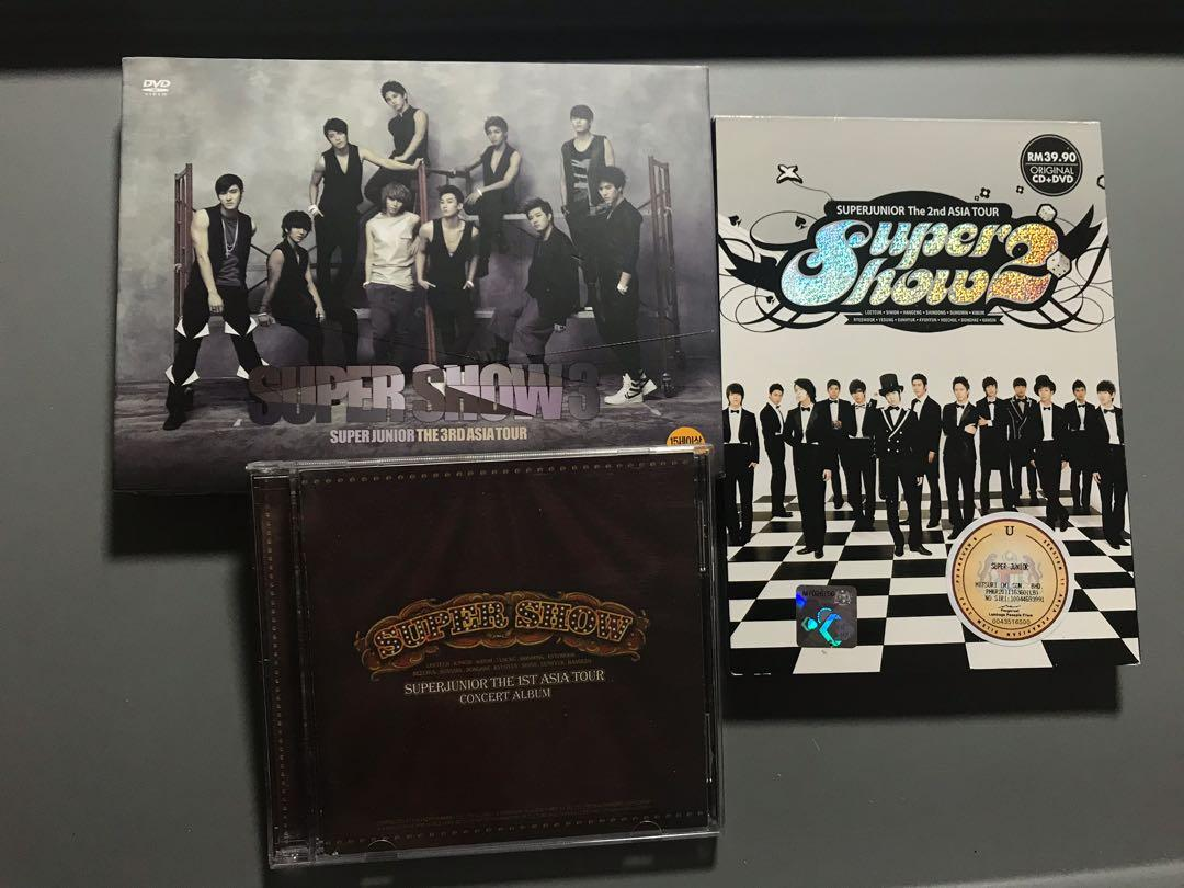 [WTS]SUPER JUNIOR SOLO ALBUMS AND SUPER SHOW CD/DVD UNSEALED