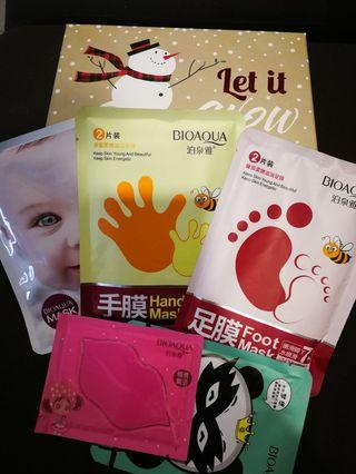 5 in 1 Pampering Mask set for Face & Body #CarouStyle