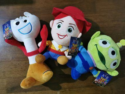 Disney Pixar Toy Story 4 Characters Plush Jessie Alien Forky Soft Doll Toy Patung With Tag