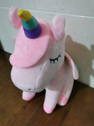 Flying Rainbow Pink Unicorn My Little Pony Cute Plush Soft Doll Toy Patung