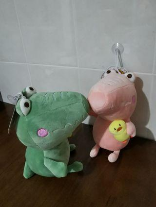 Crocodile and Little Chick Soft Doll Toy Patung With Tag Very Soft Cute