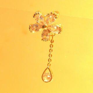 🔆耳骨夾 氣質小花 垂墬 玫瑰金耳環