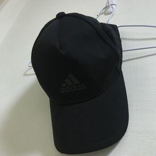 Adidas 全黑老帽 可調整 類似Nike puma