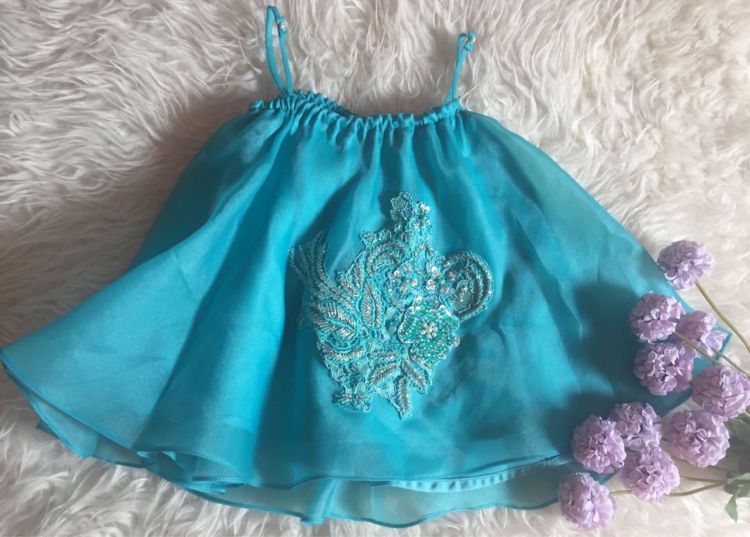 #1111special Dress tali spageti organza