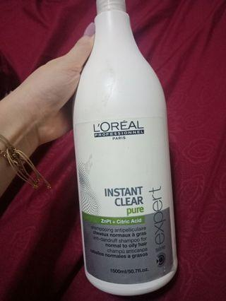 Preloved! Loreal instant clear pure shampoo 1500ml