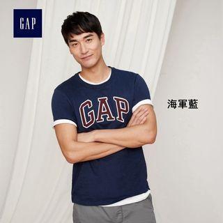 Gap LOGO系列純棉短袖圓領T恤 639065-海軍藍 男S