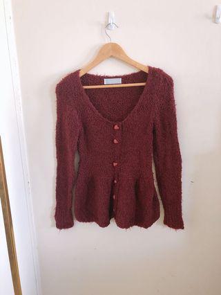 冬季軟綿綿針織顯瘦毛衣