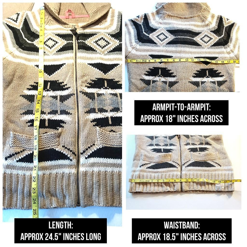 $15 - Triple Five Soul, Cowichan-inspired sweater (LRG)