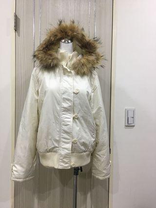 專櫃鋪棉防風毛領外套