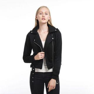 Acrylic Wool Leather Jacket