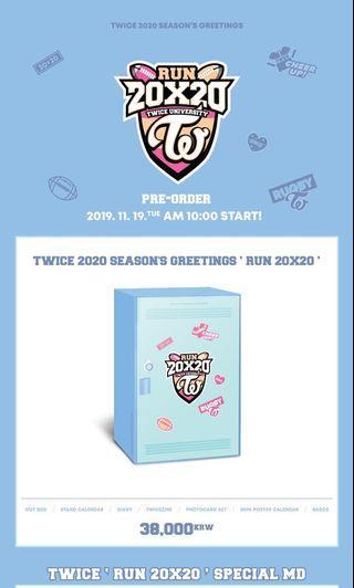 [MY GO]TWICE 2020 SEASON'S GREETINGS RUN 20X20 & Goods