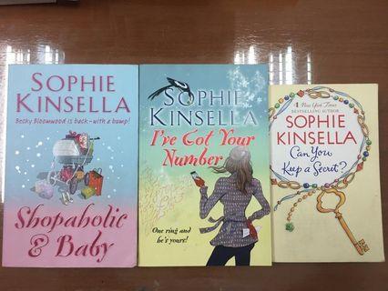 Sophie Kinsella books - shopaholic & more