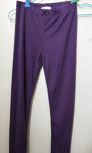 內搭褲 紫色點點