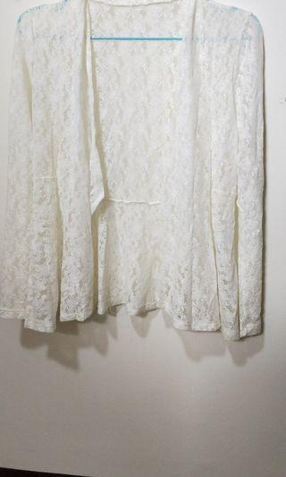 全新 蕾絲小外套 白色款