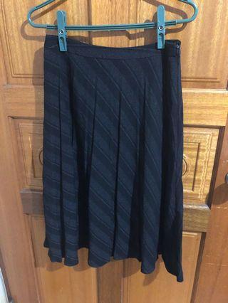 黑色百折圓裙長裙
