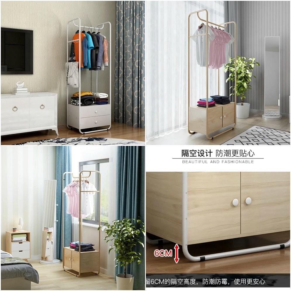 (訂貨價:$440)60cm加窄 鋼木掛衣櫃 160cm加高衣櫃 衣帽架 收納掛衣架 Wooden Closet