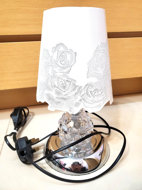 白色玫瑰花枱燈床頭燈