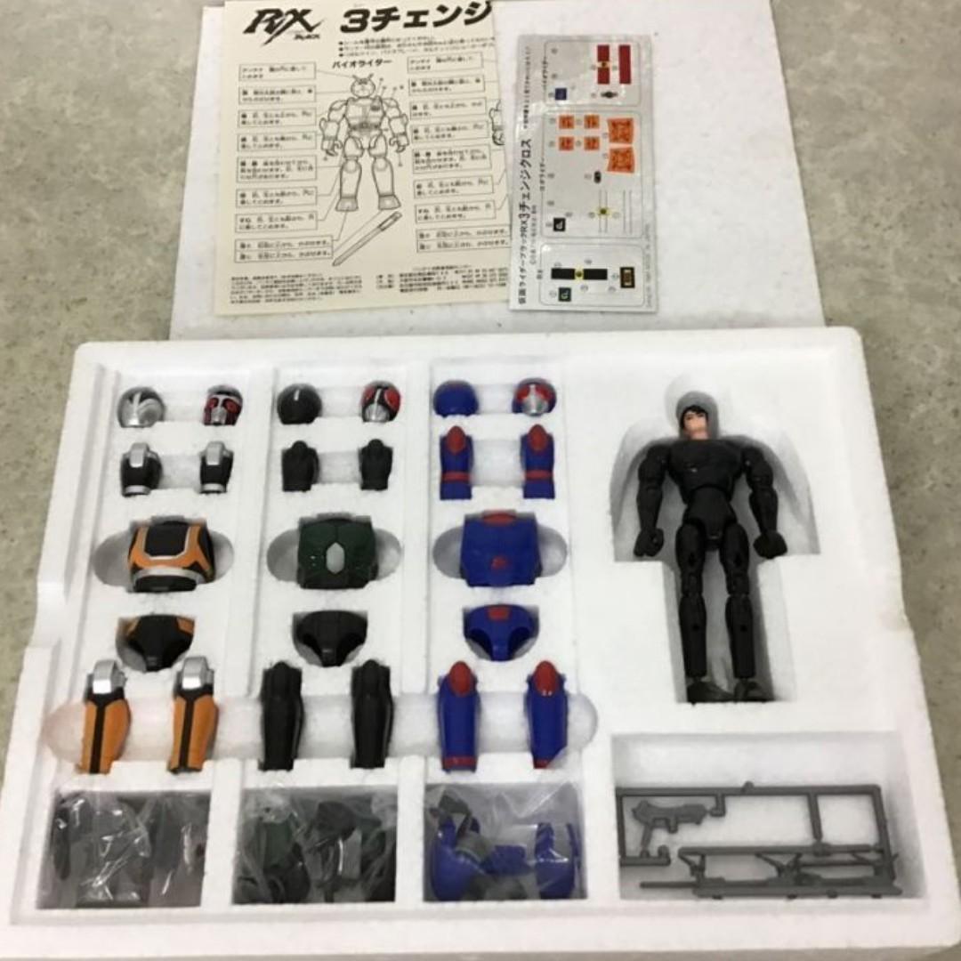 幪面超人 MASK RIDER BLACK RX 3種類 BANDAI MADE IN JAPAN 日本製 日版 聖衣大系 99.9%新 未玩過 只開過盒検査過 未剪件 件全整