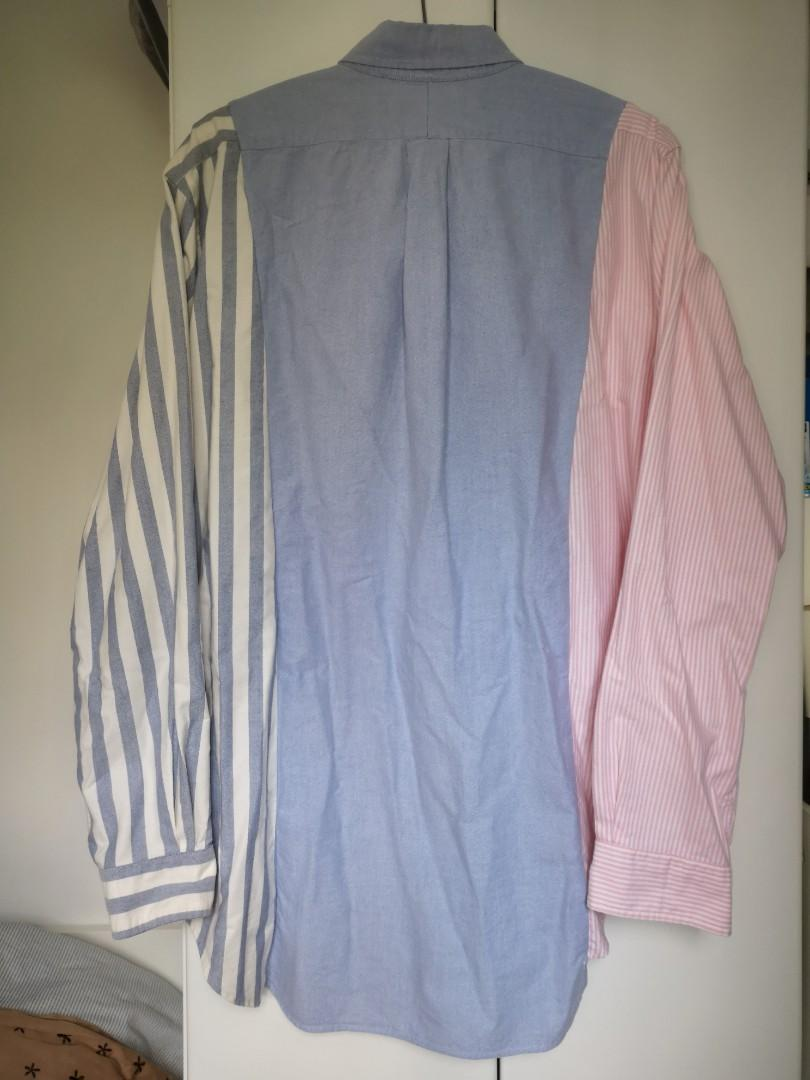 Oversize vintage remake oxford shirt 中古改裝條子裇衫