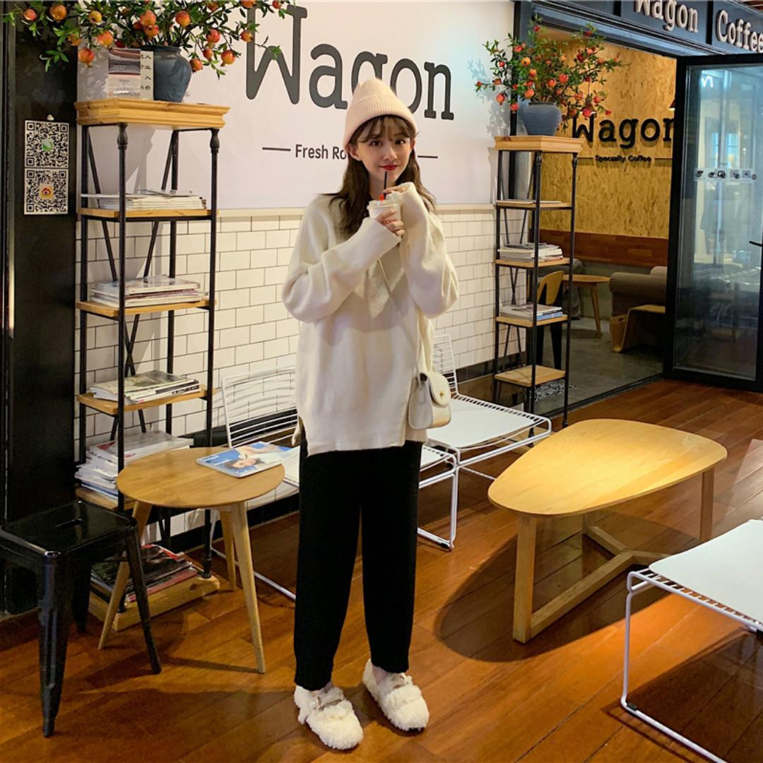 AC1335 (全新) 女裝 季套裝毛衣外套針織休閒褲子時尚兩件套
