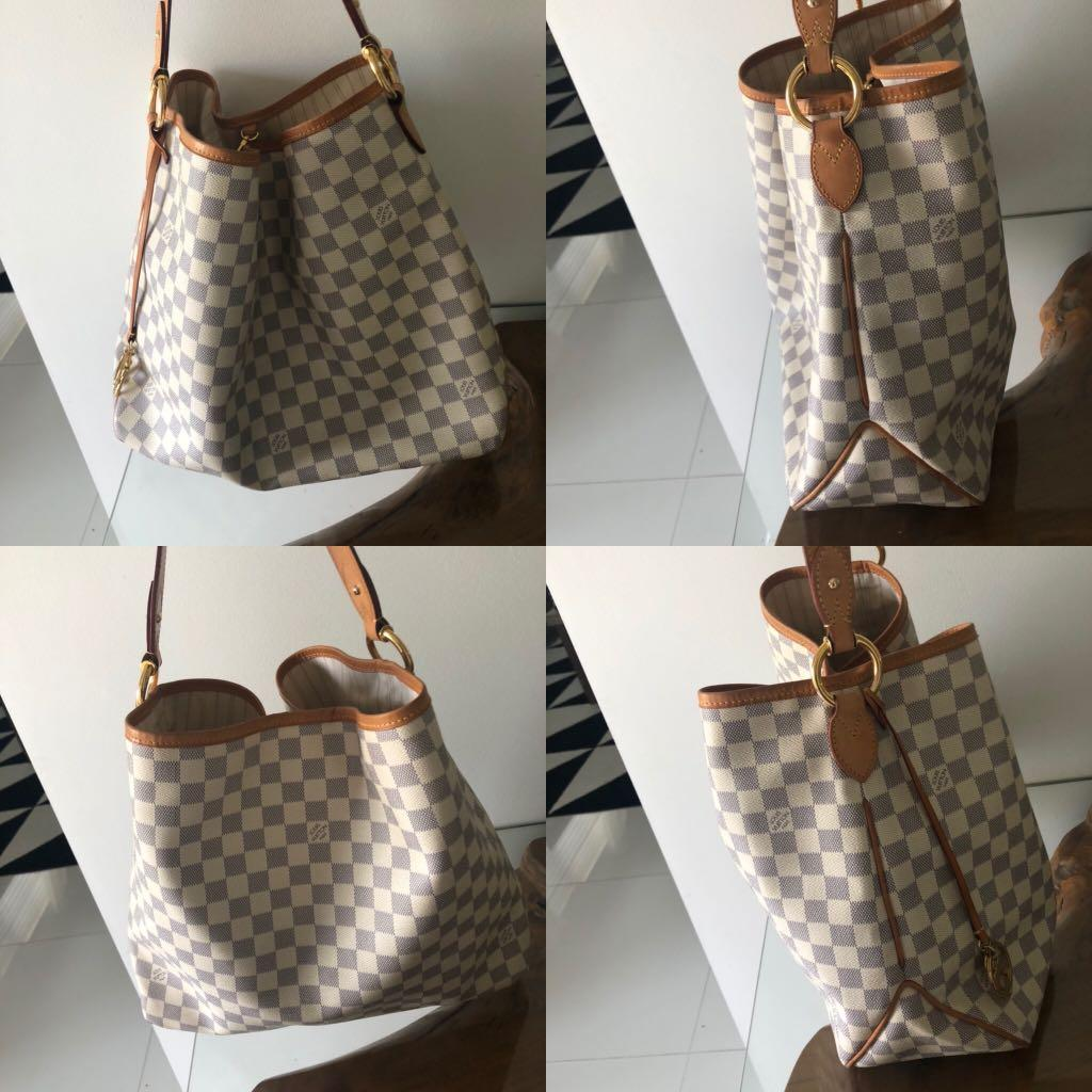 Authentic Louis Vuitton MM Azur Delightful tote hobo bag