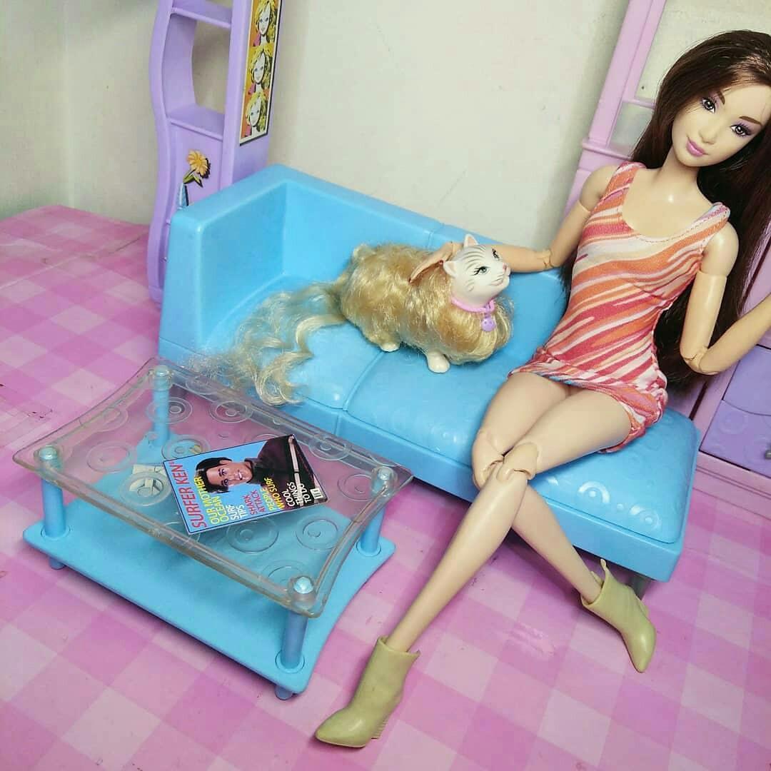 Barbie living room playset Mattel