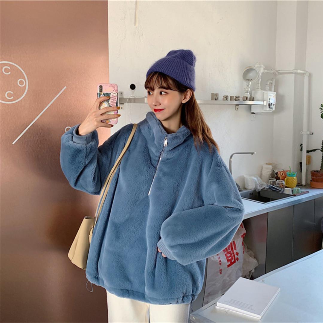 BD310 (全新) 女裝 套裝女毛絨衛衣+針織奶奶褲洋氣兩件套潮