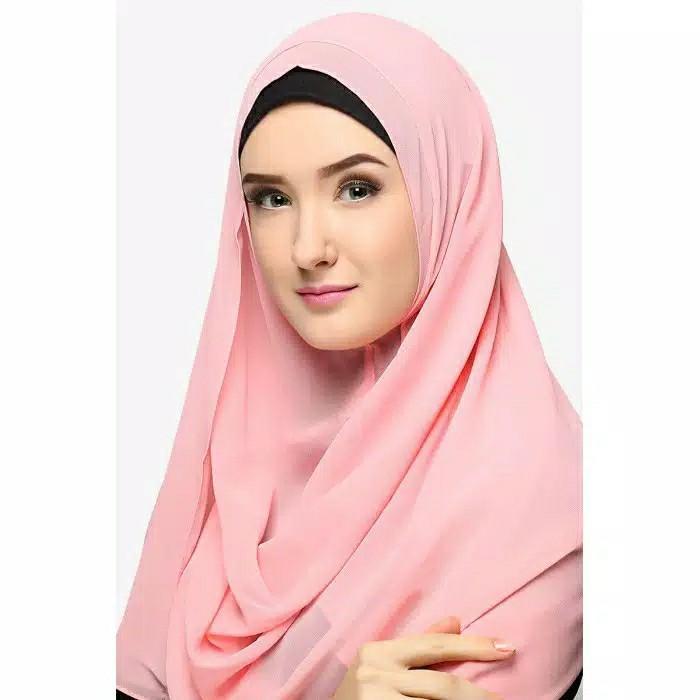 BIA by Zaskia Mecca Kerudung Sifon Amara pink muda S4