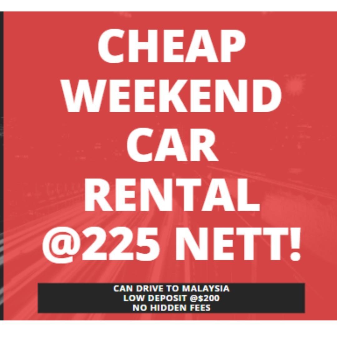 Cheap Weekend Car Rental