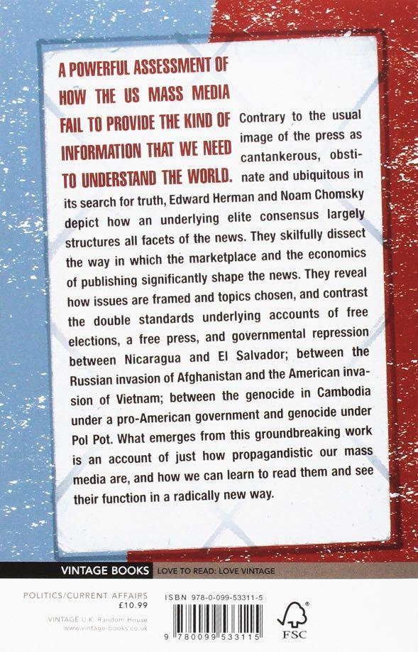 CHOMSKY & HERMAN - Manufacturing Consent: The Political Economy of the Mass Media (NEW)