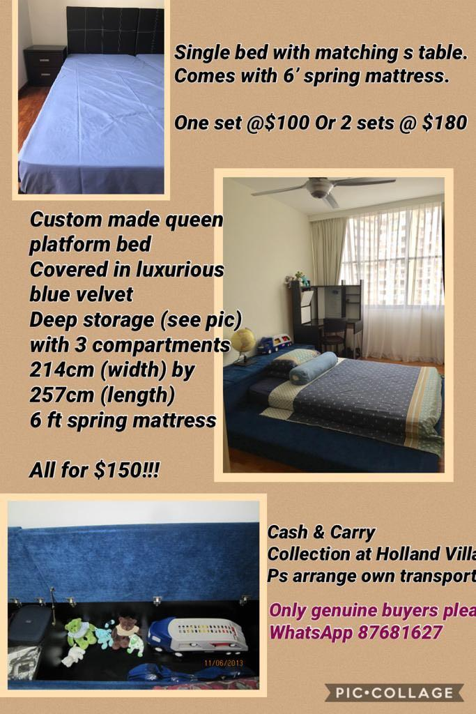 Custom Made Queen Storage Bed To Clear, Custom Made Queen Size Bed Frame