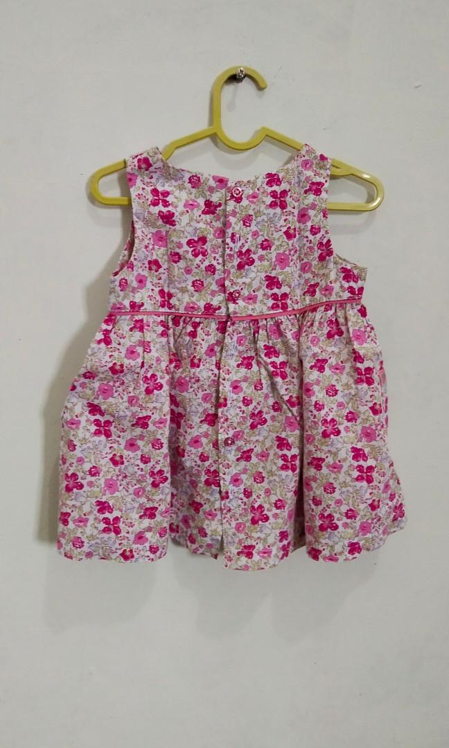 Dresa Bunga Pink Curly Baby Preloved