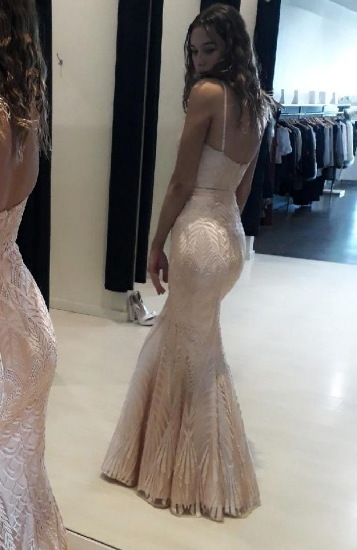 Elle Zeitoune Formal Gown Priya Baby Pink RENT ONLY